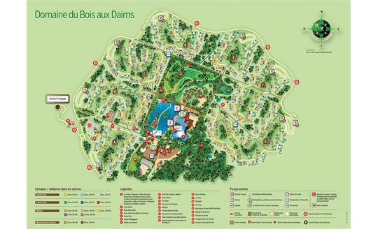 [FR] Le plan de Center Parcs Le Bois aux Daims  # Le Domaine Du Bois Aux Daims