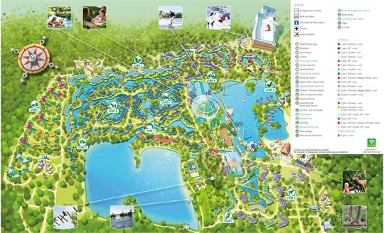 Le plan de Center Parcs De Kempervennen à De Kempervennen