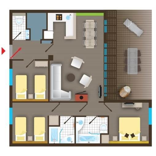 fr cottage premium bd477 de center parcs le bois aux daims With porte d entrée pvc avec haut parleur salle de bain bluetooth