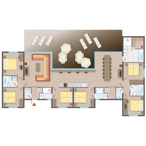 FR] Cottage VIP Bois CH266 de Center Parcs Les Hauts de Bruyères ~ Plan Des Cottages Center Parc Les Bois Francs