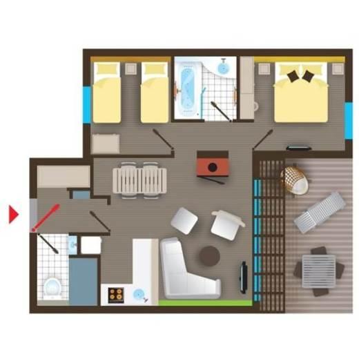 FR] Cottage Premium Eden BD478 de Center Parcs Le Bois aux Daims ~ Plan Des Cottages Center Parc Les Bois Francs