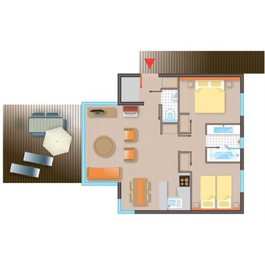 FR] Cottage Premium Eden BF228 de Center Parcs Les BoisFrancs ~ Plan Des Cottages Center Parc Les Bois Francs